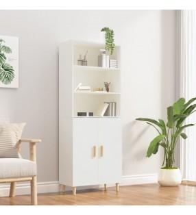vidaXL Escritorio de esquina aglomerado gris con brillo 145x100x76 cm