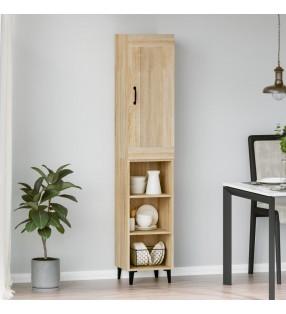 vidaXL Escritorio de aglomerado gris brillante 140x50x77 cm
