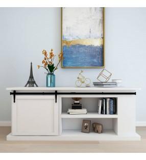 vidaXL Panel de ducha de vidrio 18x42,1x120 cm negro