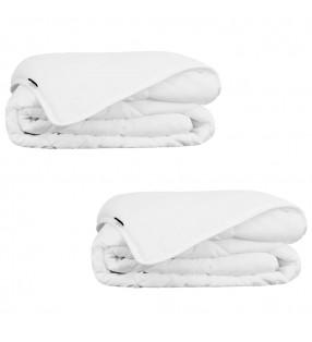 2 camisas de franela tartán a cuadros azul-negro para hombre talla M