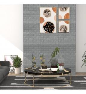 vidaXL Conector de enrejados en U para jardín 10 sets plateado