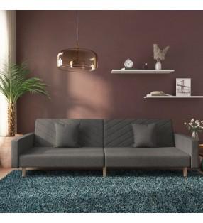 vidaXL Toldo para balcón tela oxford gris antracita y blanco 75x600 cm