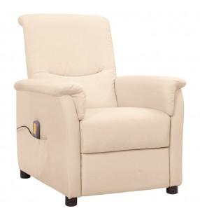 vidaXL Toldo para balcón tela oxford blanco y amarillo 75x500 cm