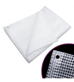 vidaXL Inodoro de pared sin bordes de cerámica blanco