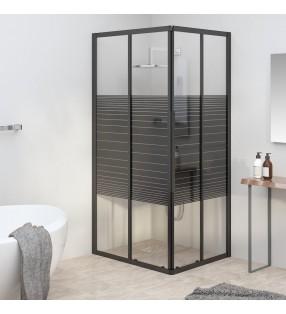 vidaXL Mampara de ducha accesible vidrio templado 140x195 cm