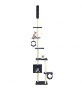 Rascador Para Gatos Xl 230-260 cm Color Beige Con Estampado De Patas
