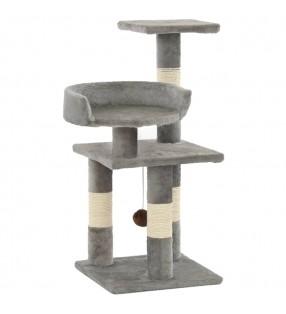Cama blanda para perros con un cojín blanco acolchado, tamaño S