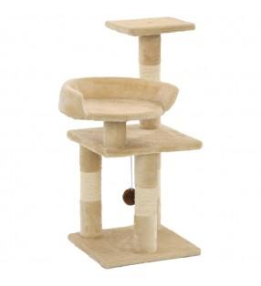 Cama blanda para perros con un cojín blanco acolchado, tamaño L