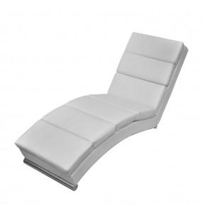 vidaXL Mesa alta de cocina de MDF y 1 pata de acero blanco con brillo