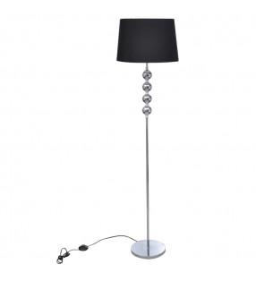 vidaXL Lámpara de techo con brazos de cristal hojas blanco y morado