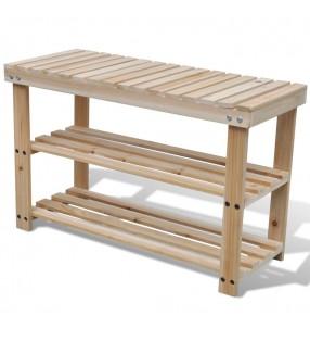 vidaXL Aparador de madera reciclada con 2 puertas estilo vintage