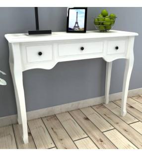 vidaXL Armario para llaves con marco de fotos blanco
