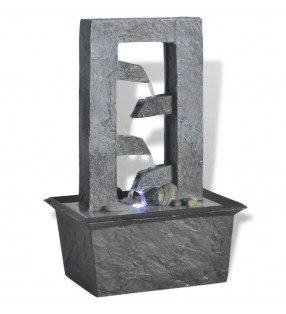 vidaXL Alfombra de entrada PVC gris 90x120 cm