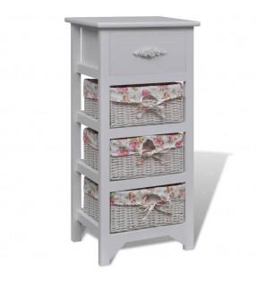 vidaXL Planta de bambú artificial Twiggy con macetero 90 cm