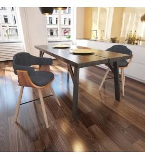vidaXL Taburetes apilables 2 unidades de metal rojo