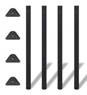 vidaXL Mesita de noche con 2 cajones de madera maciza reciclada