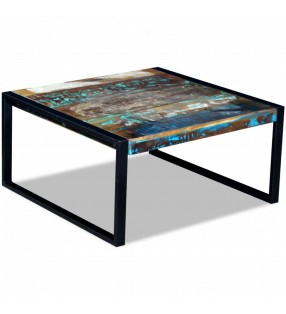 vidaXL Mesa de salón de madera de teca reciclada