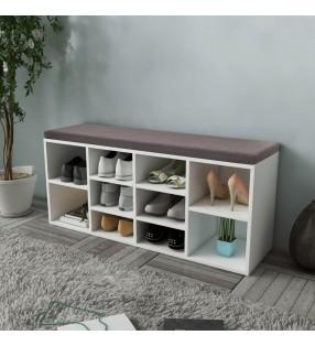 vidaXL Estructura de cama de cuero artificial blanco 160x200 cm