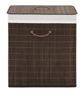 2 alfombrillas de baño de bambú 40 x 50 cm marrón