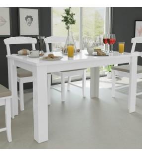 vidaXL Sofá de 3 plazas de cuero artificial blanco
