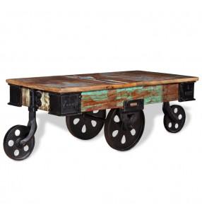 vidaXL Conjunto de comedor de siete piezas blanco