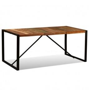 vidaXL Conjunto de Comedor Consiste en Siete Piezas de Color Blanco y Negro