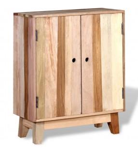 vidaXL Mueble zapatero blanco 2 compartimentos con espejo 63x17x67 cm